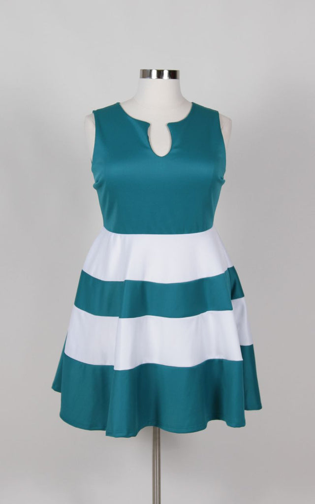 Plus Size Clothing for Women - Jessica Kane Skater Dress - Teal - Society+ - Society Plus - Buy Online Now! - 1