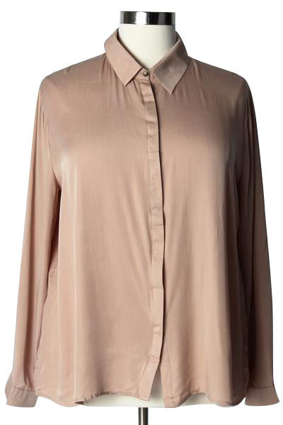 Plus Size Clothing for Women - Keyhole To My Heart Button-Up Shirt - Society+ - Society Plus - Buy Online Now! - 1