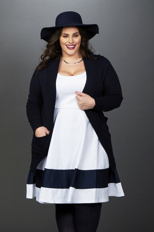 Plus Size Clothing for Women - You, Me, & A Cup of Tea Cardi - Navy - DO NOT MAKE LIVE - Society+ - Society Plus - Buy Online Now! - 1