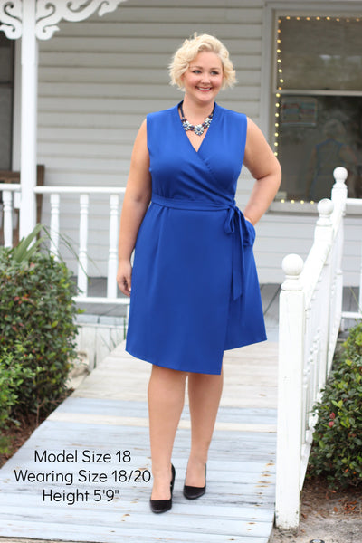 Plus Size Clothing for Women - The Power Dress - Cobalt Blue-Hold for Stitch Fix - Society+ - Society Plus - Buy Online Now! - 1