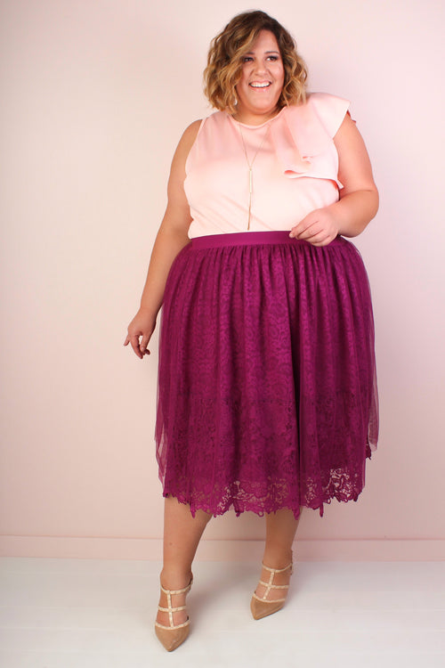Violette Lace & Tulle Skirt