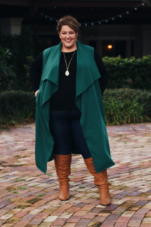 Chicest Of Them All Vest - Hunter Green