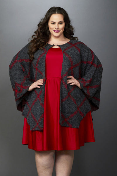 Plus Size Clothing for Women - Olivia Oversized Poncho - Society+ - Society Plus - Buy Online Now! - 2