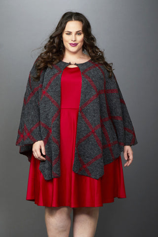 Plus Size Clothing for Women - Olivia Oversized Poncho - Society+ - Society Plus - Buy Online Now! - 1