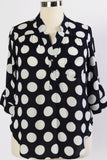 Plus Size Clothing for Women - Rowen Spotted Top - Navy/White - Society+ - Society Plus - Buy Online Now! - 1