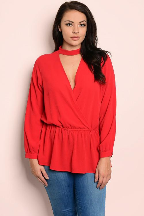 Scarlett Long Sleeve Peplum
