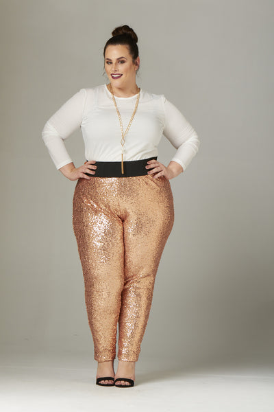 Plus Size Clothing for Women - Fancy Pants - Rose Gold - Society+ - Society Plus - Buy Online Now! - 3