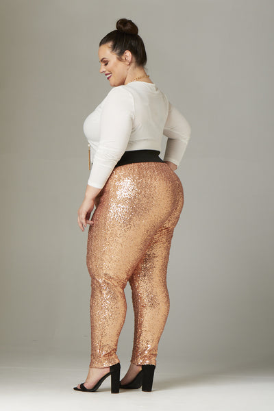 Plus Size Clothing for Women - Fancy Pants - Rose Gold - Society+ - Society Plus - Buy Online Now! - 2