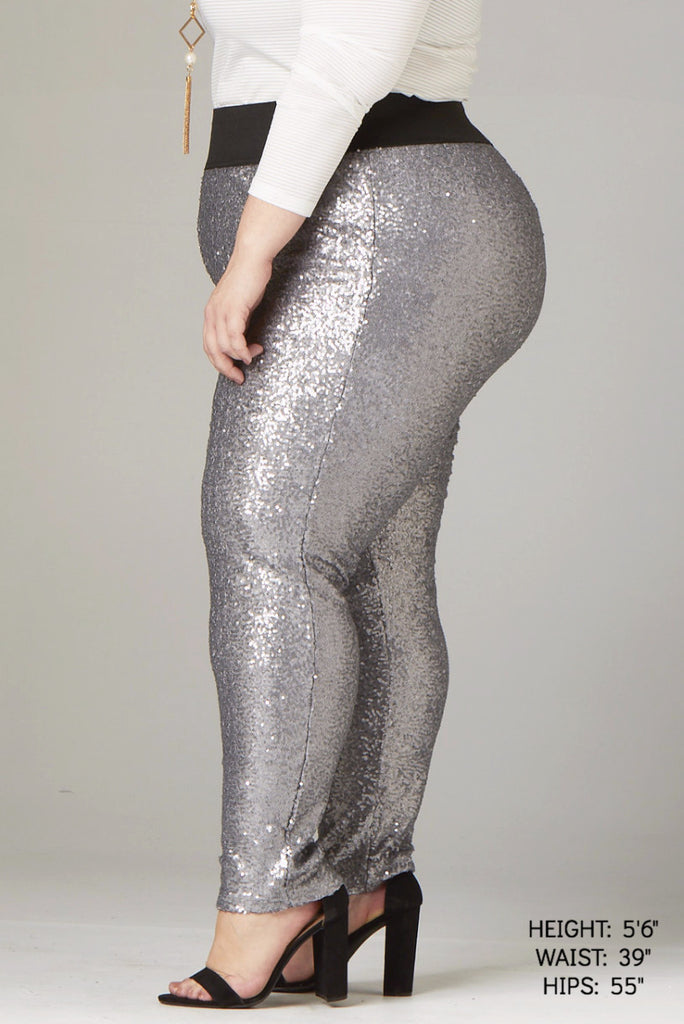 Plus Size Clothing for Women - Fancy Pants - Silver - Society+ - Society Plus - Buy Online Now! - 1