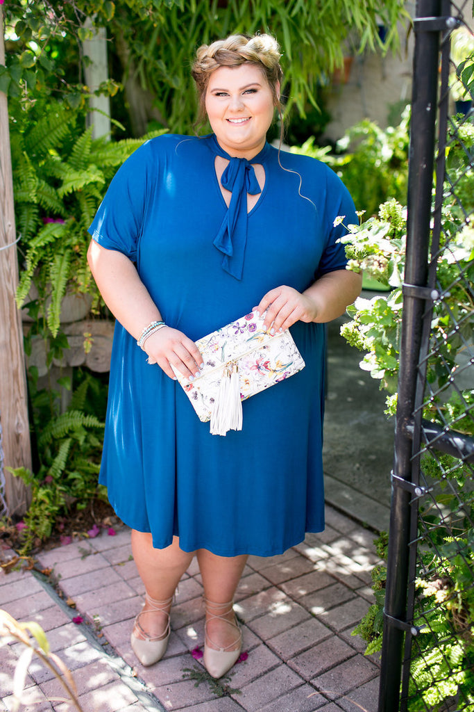 Plus Size Clothing for Women - Blueberry Bow Tie Dress - Society+ - Society Plus - Buy Online Now! - 1