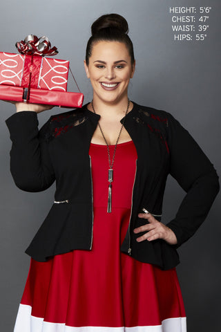 Plus Size Clothing for Women - Anastasia Lace Jacket - Society+ - Society Plus - Buy Online Now! - 1