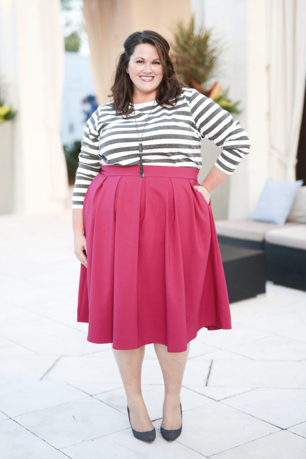 Plus Size Clothing for Women - The Kate Midington - Berry - Society+ - Society Plus - Buy Online Now! - 1