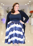 Plus Size Clothing for Women - Society+ Caged Crop Top - Navy - Society+ - Society Plus - Buy Online Now! - 2