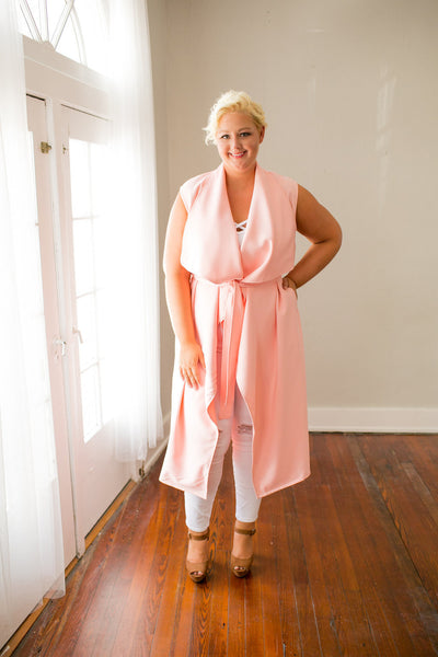 Plus Size Clothing for Women - Chicest Of Them All Vest - Pink - Society+ - Society Plus - Buy Online Now! - 5