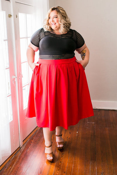 Plus Size Clothing for Women - The Kate Midington - Red - Society+ - Society Plus - Buy Online Now! - 3