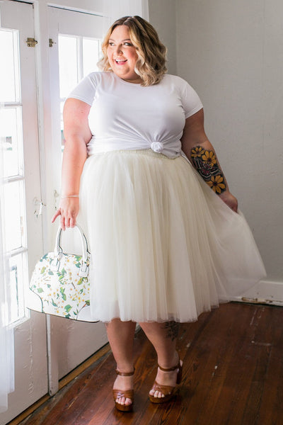 Plus Size Clothing for Women - Society+ Premium Tutu - Champagne - Society+ - Society Plus - Buy Online Now! - 1