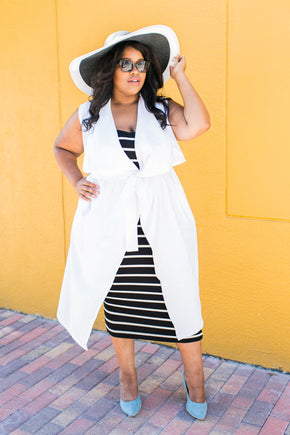 Plus Size Clothing for Women - Chicest Of Them All Vest - White - Society+ - Society Plus - Buy Online Now! - 1
