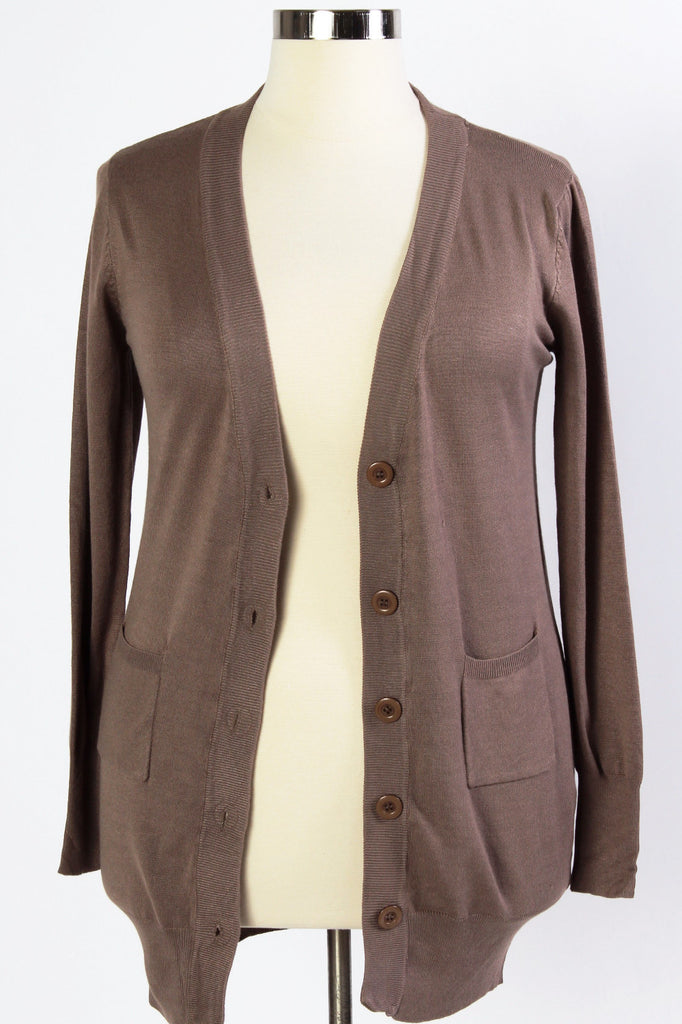 Plus Size Clothing for Women - Squeeze The Day Cardi - Taupe - Society+ - Society Plus - Buy Online Now! - 1