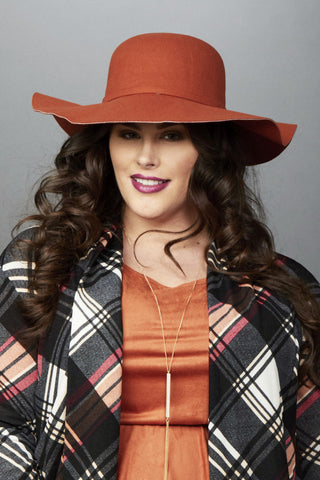 Plus Size Clothing for Women - Harper Floppy Hat - Rust - Society+ - Society Plus - Buy Online Now! - 1