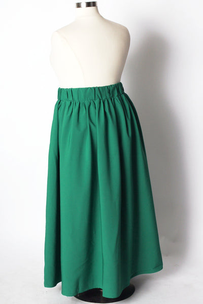 Plus Size Clothing for Women - Twirl Maxi Skirt w/ Pockets - Emerald City - Society+ - Society Plus - Buy Online Now! - 4