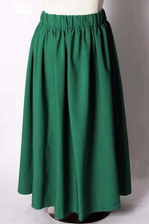 Plus Size Clothing for Women - Twirl Maxi Skirt w/ Pockets - Hunter Green - Society+ - Society Plus - Buy Online Now!