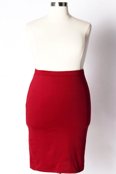 Plus Size Clothing for Women - Work It Pencil Skirt - Burgundy - Society+ - Society Plus - Buy Online Now! - 2