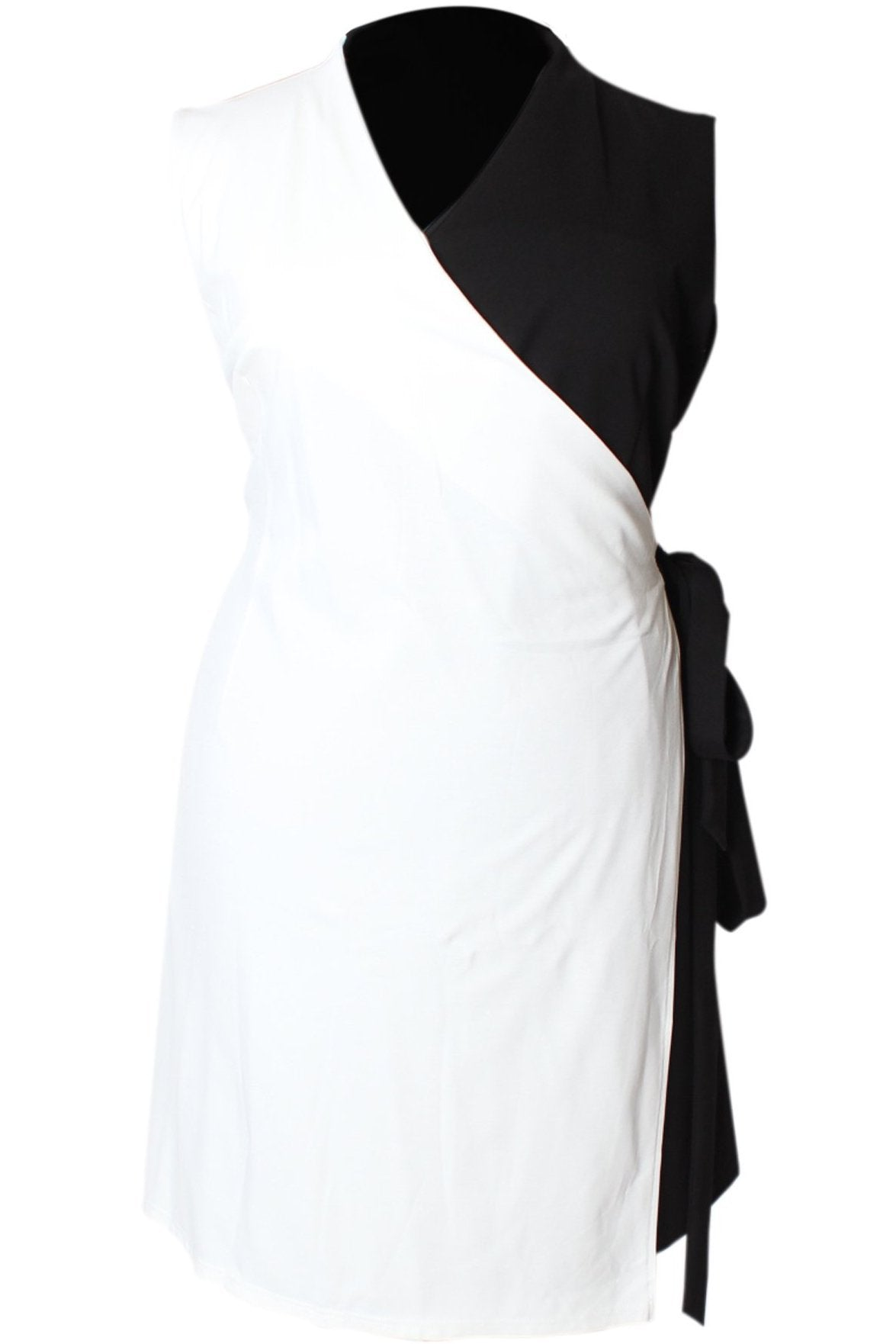 Color Block Power Dress - Black & White