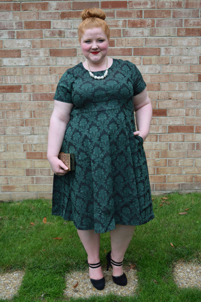 Plus Size Clothing for Women - Waverly Street Skater Dress - Dark Green - Society+ - Society Plus - Buy Online Now! - 2
