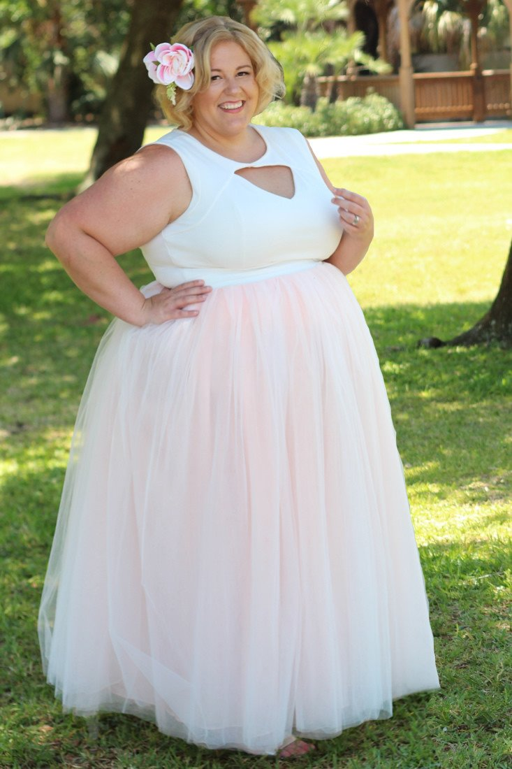 Plus Size Clothing for Women - Premium Tutu - Long Blush - Society+ - Society Plus - Buy Online Now! - 2