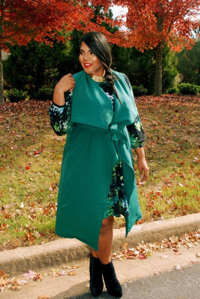 Plus Size Clothing for Women - Chicest Of Them All Vest - Hunter Green - Society+ - Society Plus - Buy Online Now! - 4