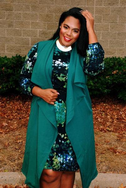 Plus Size Clothing for Women - Chicest Of Them All Vest - Hunter Green - Society+ - Society Plus - Buy Online Now! - 3