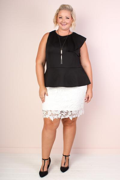 Bella Flutter Peplum Top