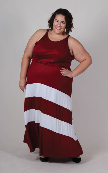 Plus Size Clothing for Women - Jessica Kane Versatile Fall Maxi Dress - Marsala - Society+ - Society Plus - Buy Online Now! - 7