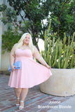 Plus Size Clothing for Women - Jessica Kane Caged Crop Top - Light Pink - Society+ - Society Plus - Buy Online Now! - 3