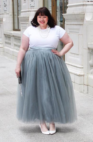 Plus Size Clothing for Women - Premium Tutu - Long Grey - Society+ - Society Plus - Buy Online Now! - 1