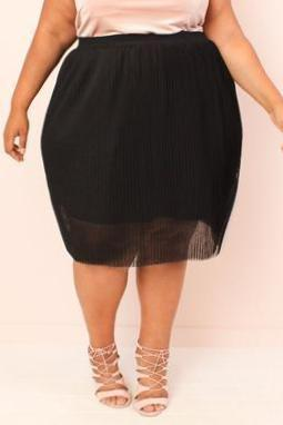 Malina Pleated Tulle Skirt (Sizes 14 - 32)