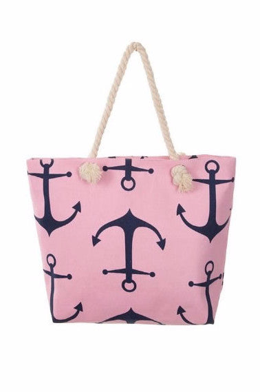 Plus Size Clothing for Women - Anchor Tote - Pink - Society+ - Society Plus - Buy Online Now! - 2