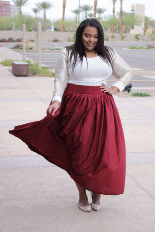 Plus Size Clothing for Women - Ruby Romance Maxi Skirt with Pockets (Sizes 22-28) - Society+ - Society Plus - Buy Online Now! - 1