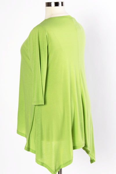 Plus Size Clothing for Women - 3/4 Sleeve Top - Avocado - Society+ - Society Plus - Buy Online Now! - 4