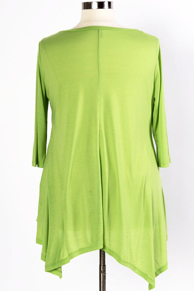 Plus Size Clothing for Women - 3/4 Sleeve Top - Avocado - Society+ - Society Plus - Buy Online Now! - 5