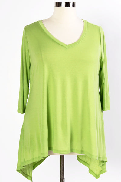 Plus Size Clothing for Women - 3/4 Sleeve Top - Avocado - Society+ - Society Plus - Buy Online Now! - 6