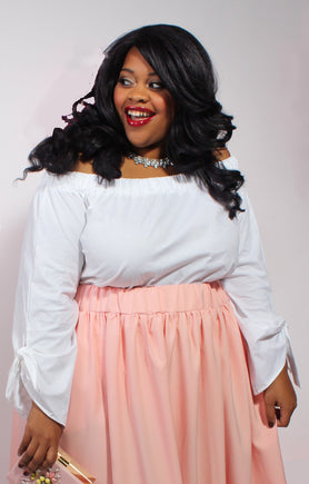 Plus Size Clothing for Women - Eva Off-The-Shoulder Top - White - Society+ - Society Plus - Buy Online Now! - 2