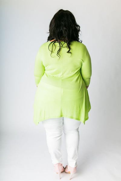 Plus Size Clothing for Women - 3/4 Sleeve Top - Avocado - Society+ - Society Plus - Buy Online Now! - 3