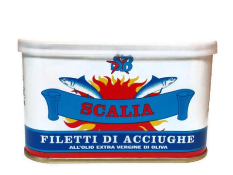 Scalia Italian Anchovies in Sea Salt