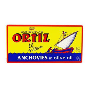 Ortiz Anchovy Fillets in Olive Oil, 1.7 oz.
