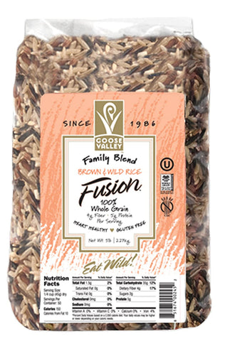 Goose Valley Brown and Wild Rice Fusion - Family Blend 5 lbs
