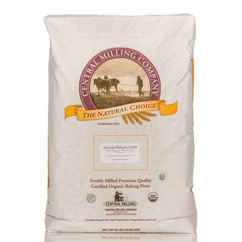 Central Valley Mill 100% Organic Artisan Bread Flour 50lb