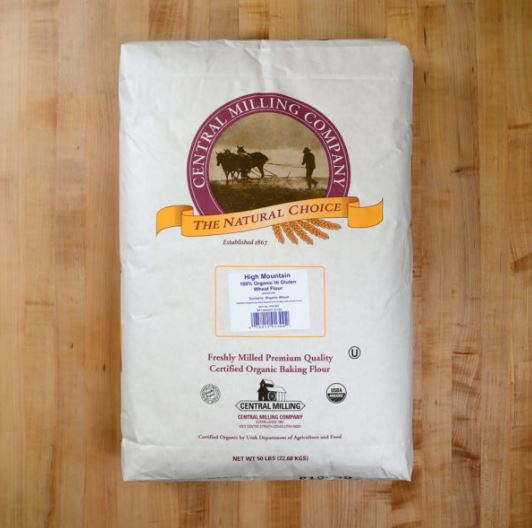 Central Milling Organic high-protein Bread Flour 50lb