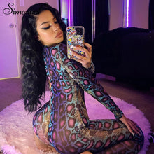 Load image into Gallery viewer, Pre-order Snake Print Bodycon Jumpsuit