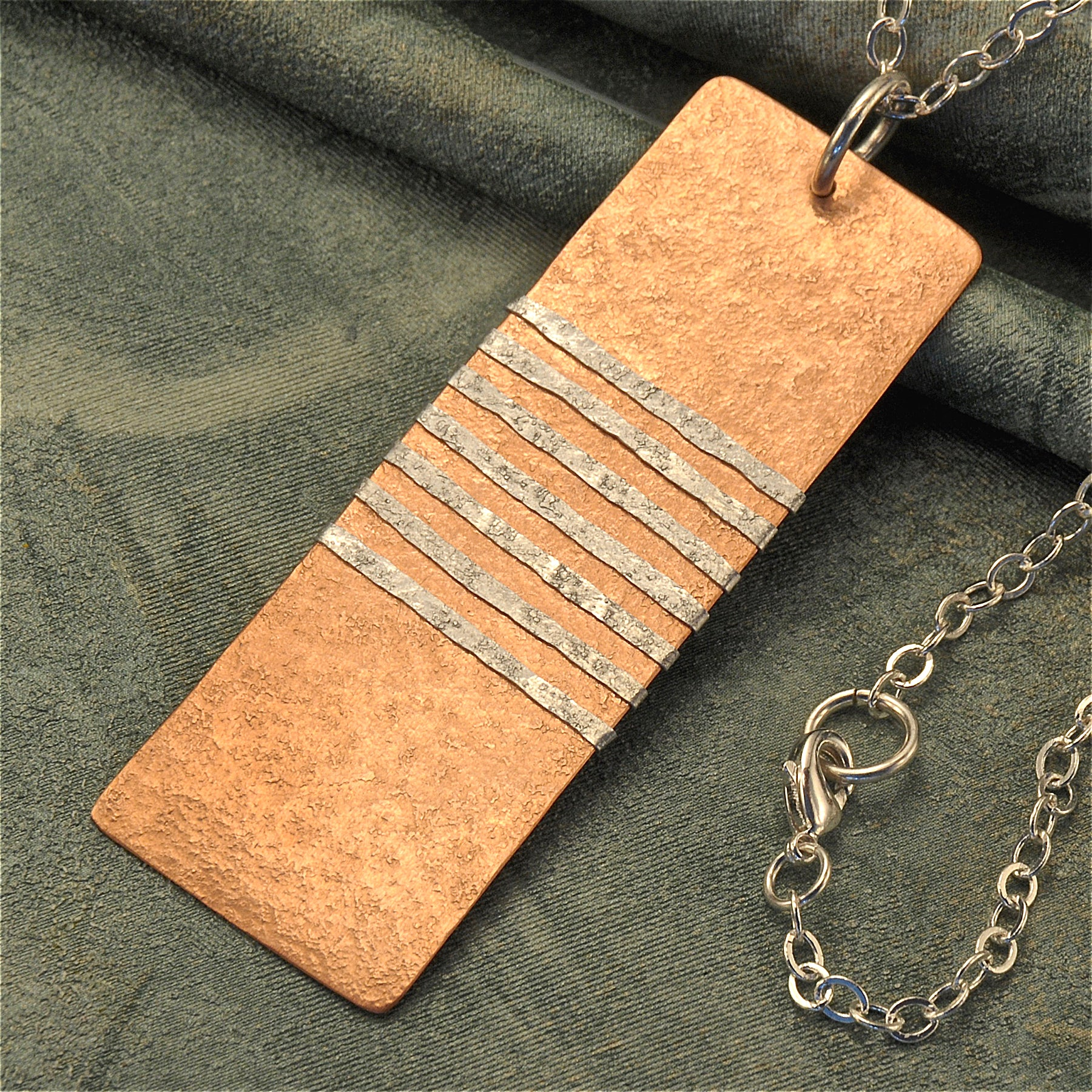 Rectangular copper necklace